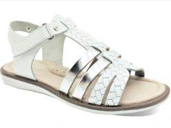 детски сандали- за девојчиња, модел: римјанки, бела боја