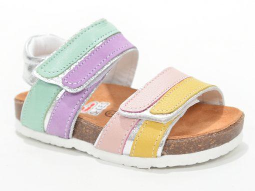 детски сандали за девојчиња- отворен модел, шарени