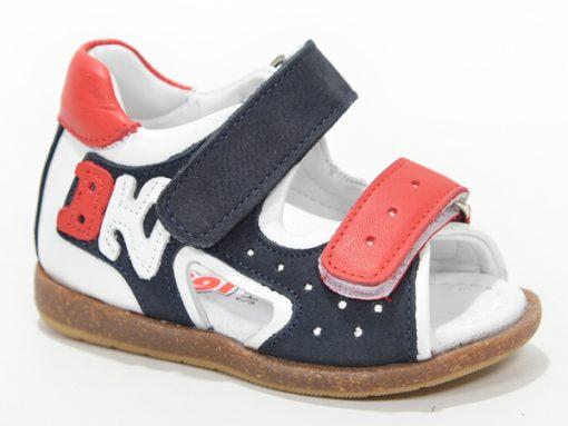 детски сандали - црно со црвено