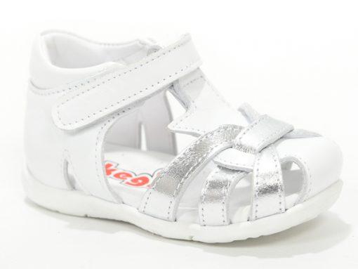 Детски сандали сиво бели за девојчиња