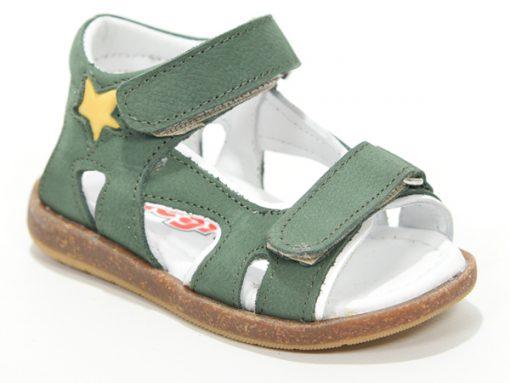 детски сандали за момчиња, маслинеста боја