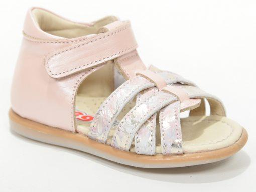 детски сандали, модел римјанки за девојчиња, розева боја