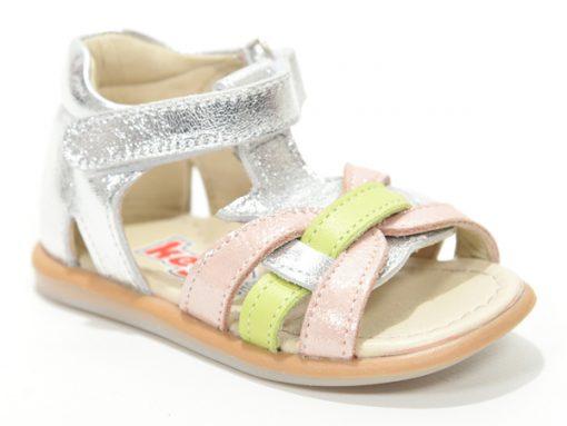 Детски сандали за девојчиња, розево зелени