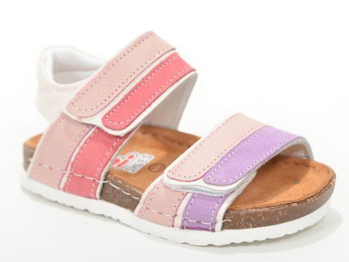 Детски сандали- за девојчиња, отворени розеви