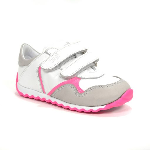 спортски детски патики за трчање бело со розево
